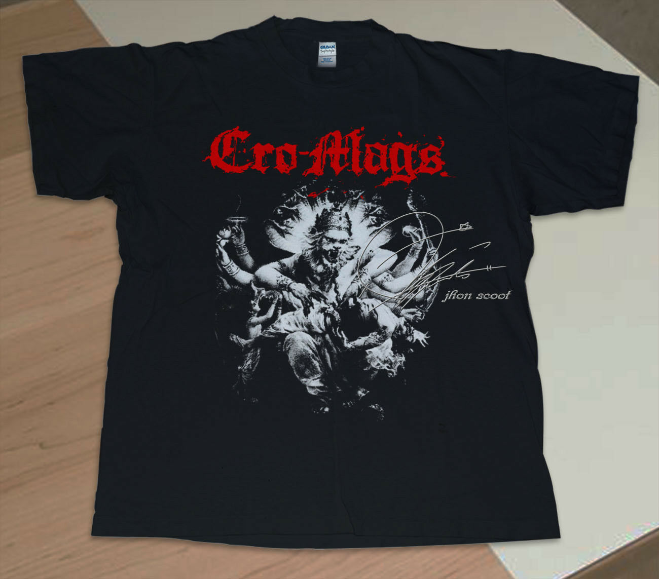 T Shirt Vintage Cro Mags Best Wishes เสื้อยืดวินเทจ