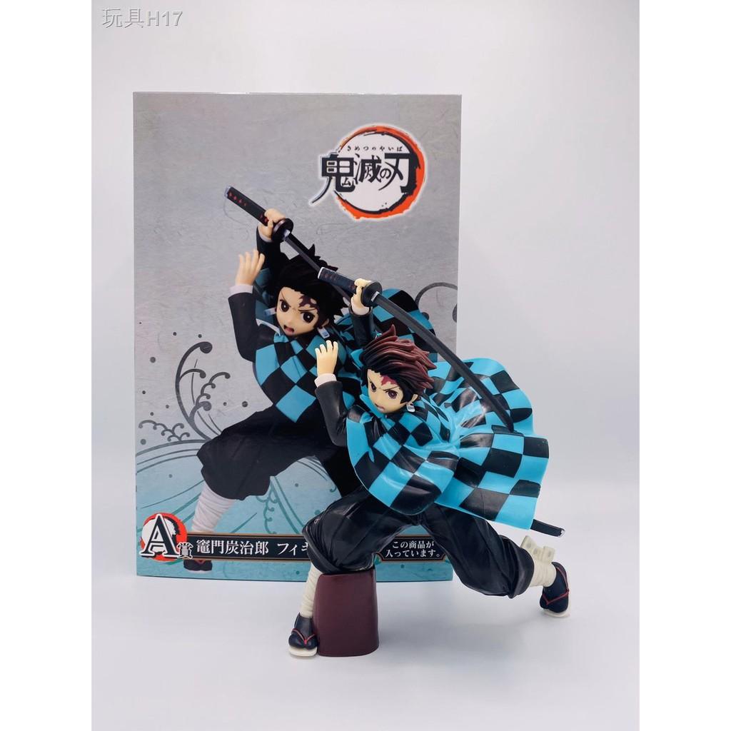 ✈Kimetsu no Yaiba tanjiro figure model Demon Slayer toy of collector gift Japanese anime cartoon 🇨🇳