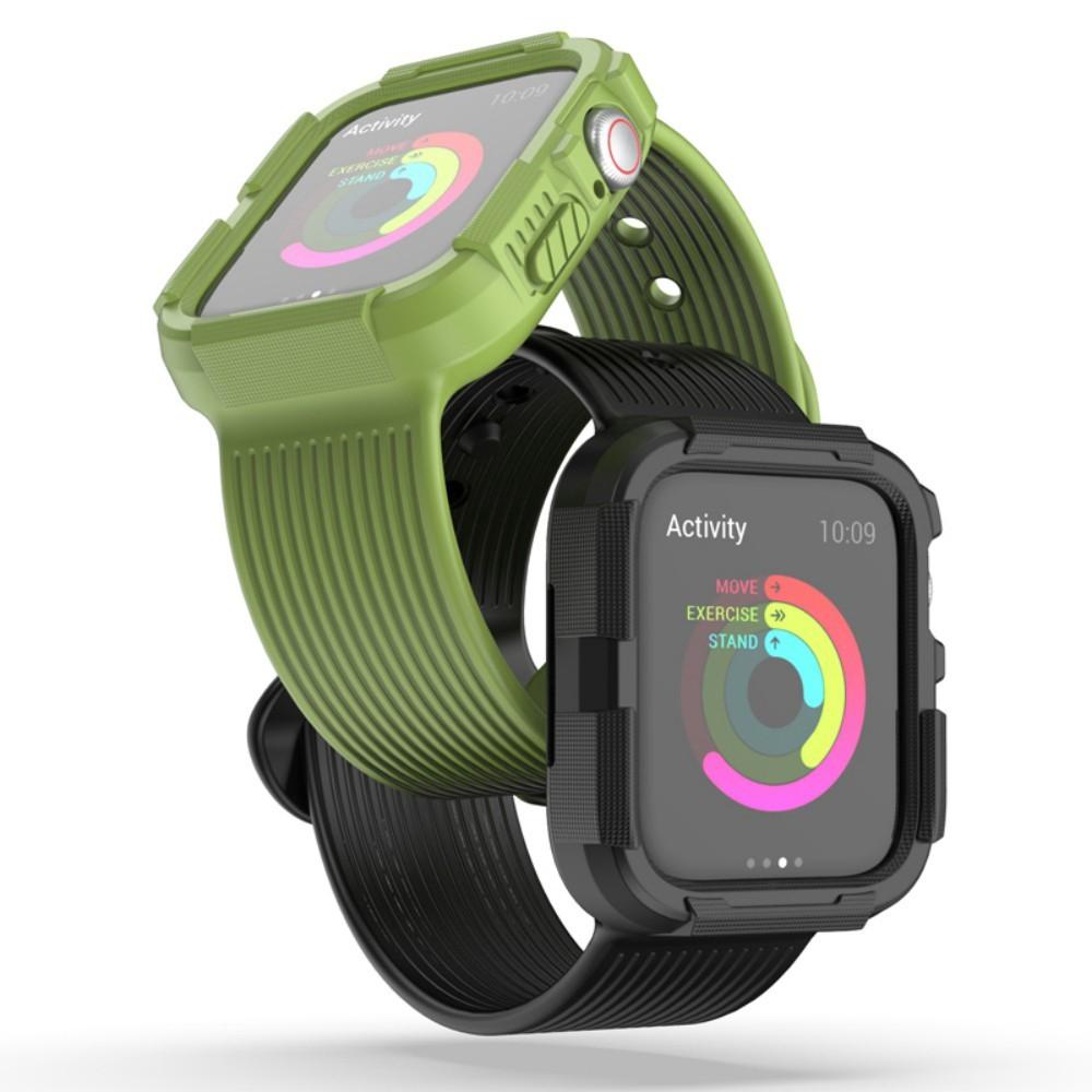 สายนาฬิกาข้อมือ + เคส Apple Watch Band 5 4 44มม. 40มม. iWatch Series 5 4 Strap Apple Watch 40mm 44mm