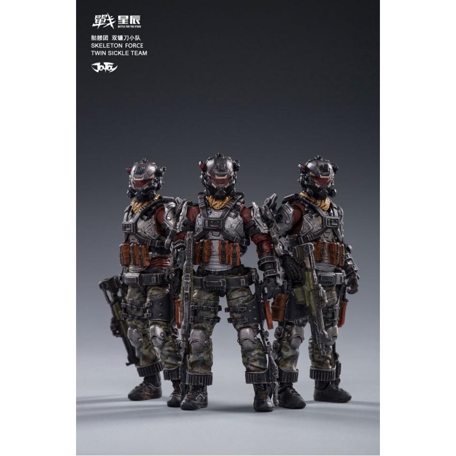 1 / 18 Figure Joy Toy Skeleton Force Twin Sickle Team
