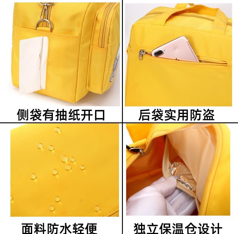✩▣กระเป๋าคุณแม่ลูกอ่อนกระเป๋าคุณแม่ใส่ขวดนมBao Maกระเป๋าเดินทางน้ำหนักเบามัลติฟังก์ชั่เข็มขัดเด็กออกประตูถุงเล็กแม่แบบพก