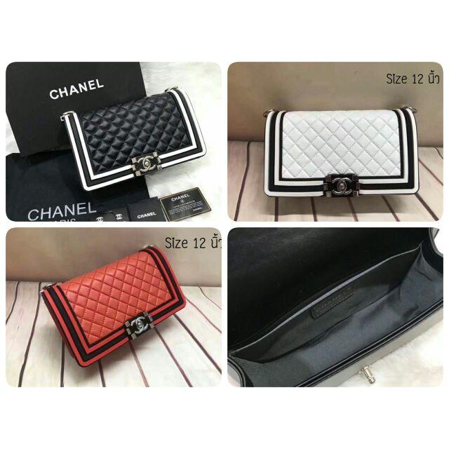 กระเป๋าสะพายข้าง Chanel Boy 12 นิ้ว