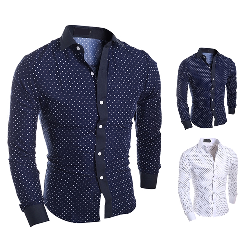 HOT GENTS Men/'s Luxury Tops Slim Long Sleeve Shirt Dress Shirts Fit Shirt