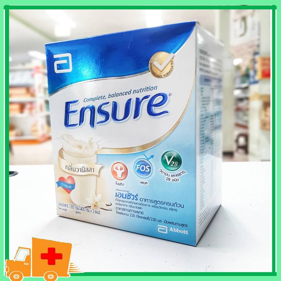 Ensure เอนชัวร์ อาหารสูตรครบถ้วน 1200 กรัม หมดอายุ 05/09/21
