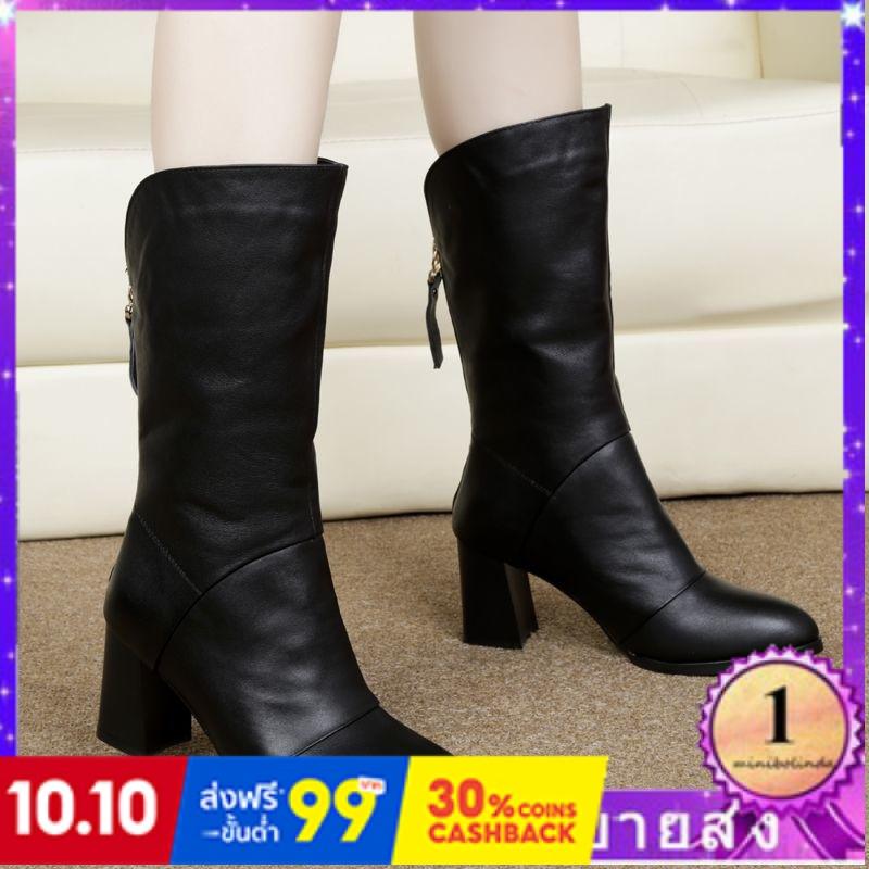 ⭐👠รองเท้าส้นสูง หัวแหลม ส้นเข็ม ใส่สบาย New Fshion รองเท้าคัชชูหัวแหลม  รองเท้าแฟชั่นใหม่หนากับรองเท้าสั้นรองเท้าผู้หญิง