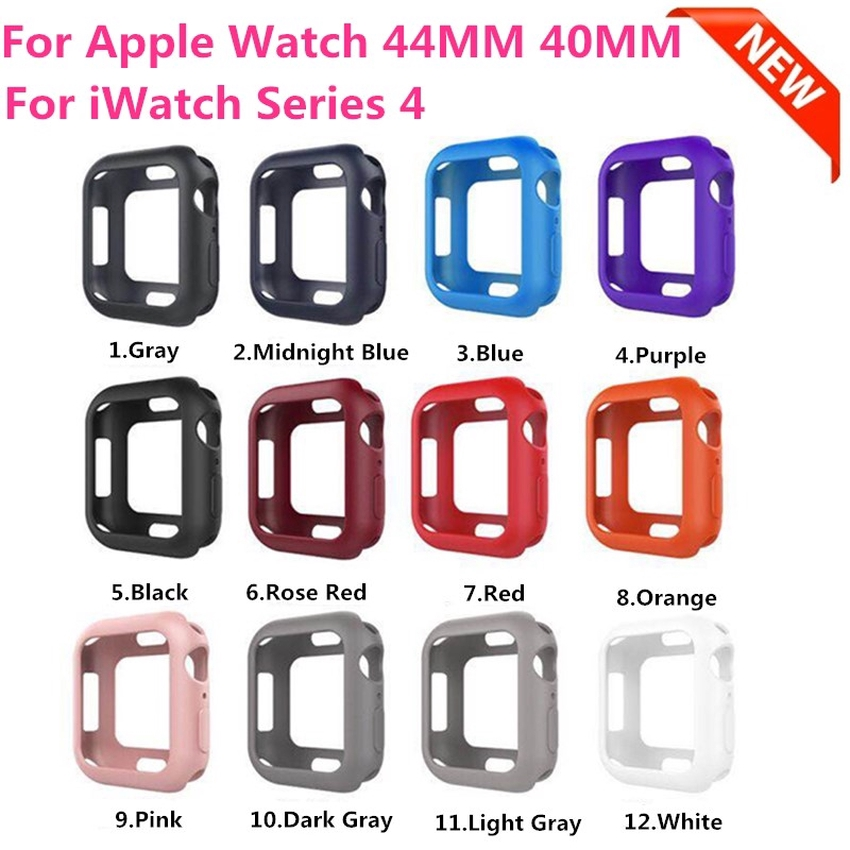 Silicone Case Apple Watch Series 38mm 42mm 40mm 44mm Series 6 SE 5 4 3 2 1 Cute Colorful Rubber Protective Cover