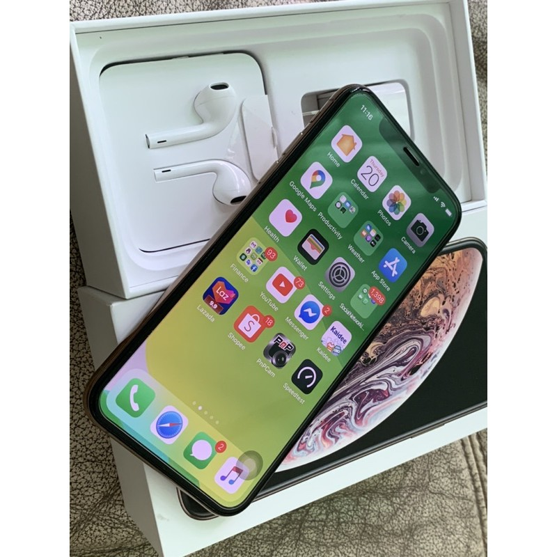IPhoneXS max 256G 2Simมือสองสภาพ100เดิมๆครบ