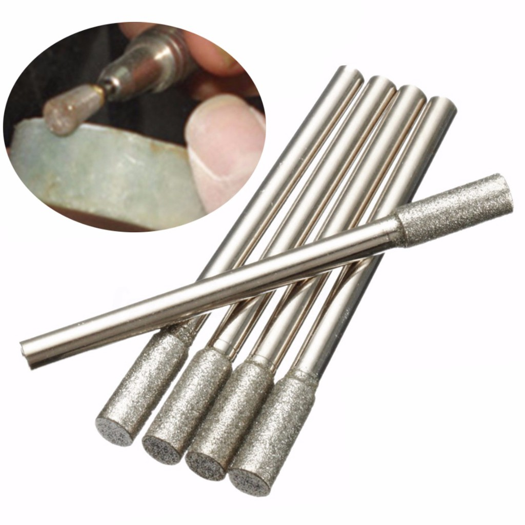 6mm Shank 11mm Diamond Coated Grinding Head Ball Fine Grit Burrs Bit Rotary Tool