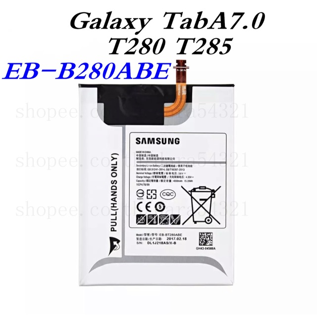 Batteryของแท้100%✨แบตเตอรี่SamsungGalaxyTabA7.0,SM-T280,T285(EB-BT280ABE)แบตเตอรี่SamsungGalaxytab7.0t280t285eb-bt280ABE