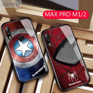 Review เคสกระจกลายMarvel Captain America Iron Man สำหรับ Asus Zenfone Max Pro M1 M2 ZB631KL ZB601KL