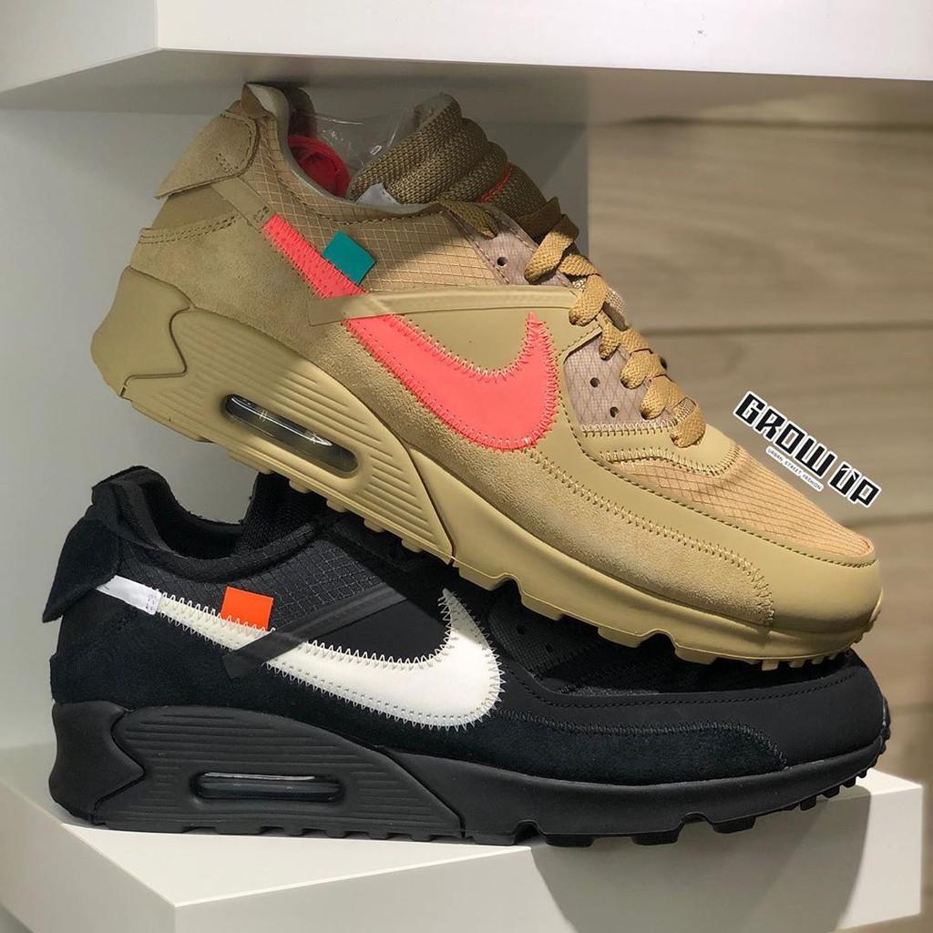 รองเท้าผ้าใบ  Offwhite x Nike Air max 90 pack