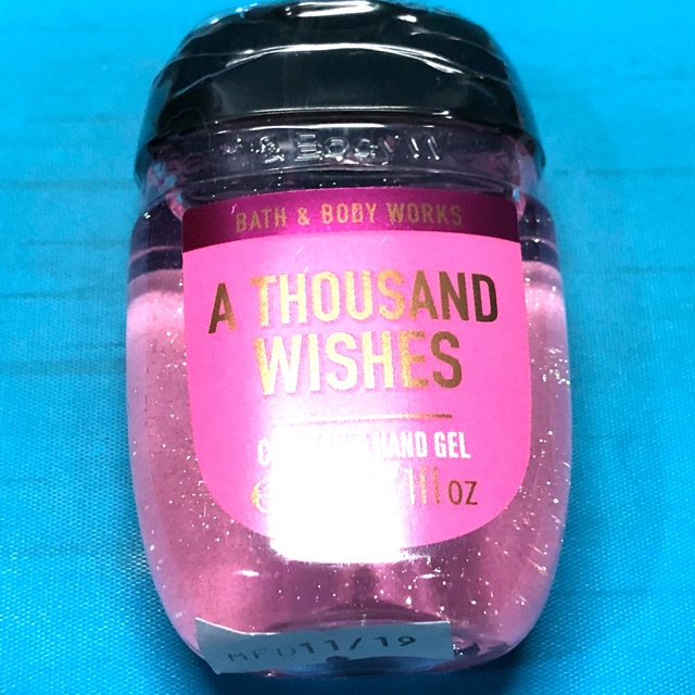 bath and body work hand gel thounsand wishes