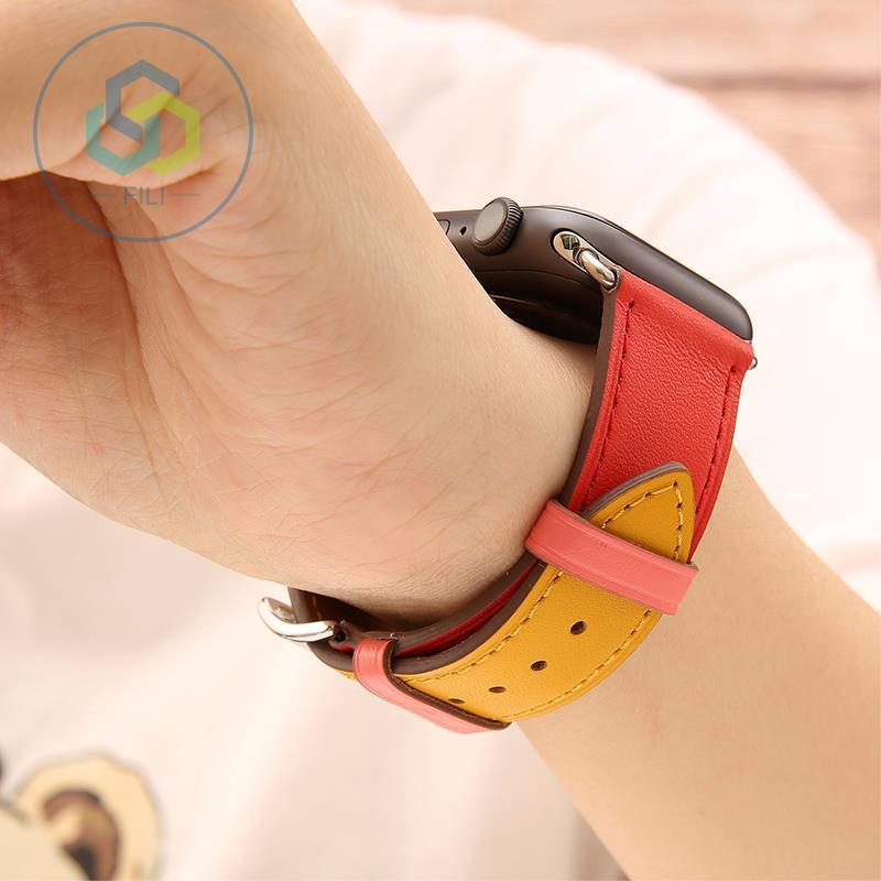 สาย applewatch สายนาฬิกา applewatch สายนาฬิกาข้อมือหนังแท้ Apple Watch Band Series 1 / 2 / 3 / 4 42 มม . 38 มม .สาย