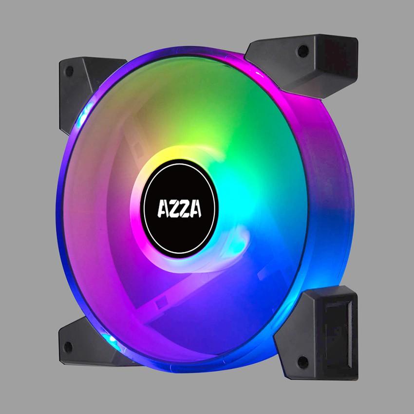 AZZA PWM Fan Case 120mm. HURICANE II Dual Ring Digital RGB - Black