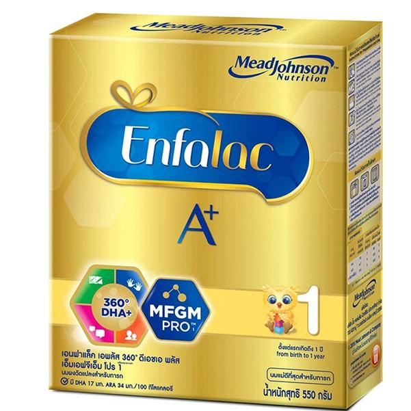 (550กรัม) Enfalac A+ เอนฟาแล็ค เอพลัส สูตร1 ขนาด 550 กรัม
