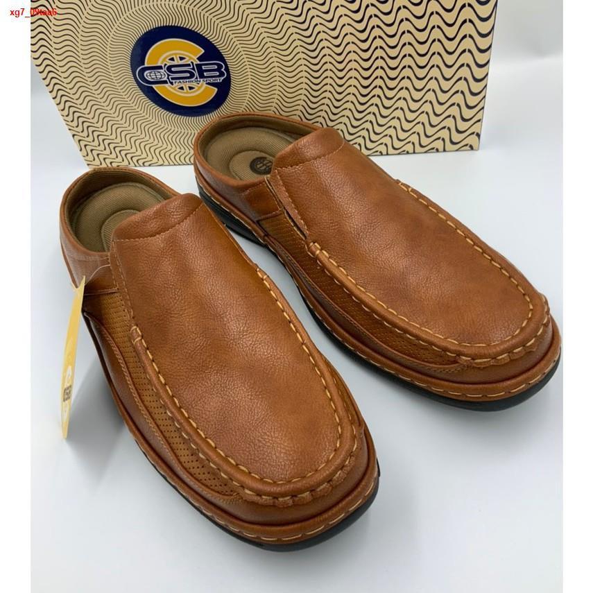 Lowest price☃ↂ❂รองเท้าคัชชูผู้ชาย รองเท้าคัชชูเปิดส้น คัชชูใส่ลำลองคัชชูพื้นนุ่มคัตชูคนทำงาน คัชชูพื้นหนานุ่ม