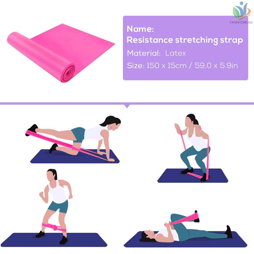 Stretch Fitness Equipment Elastic Resistance Bands Tube Exercise Band Yoga One