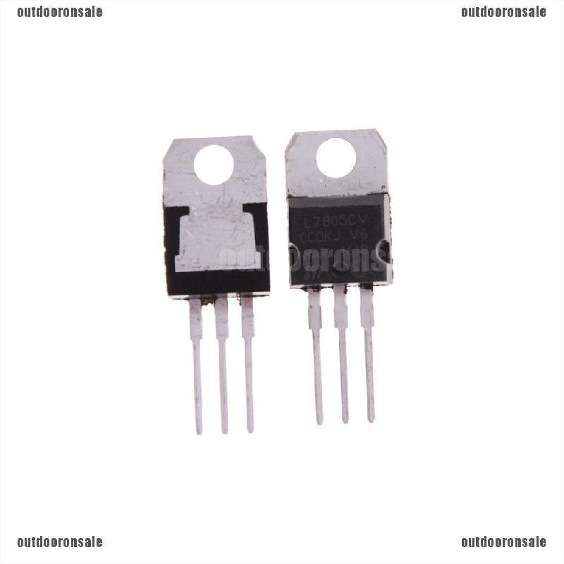 20PCS IC L7805CV L7805 7805 TO-220 Voltage Regulator 5V ST NEW