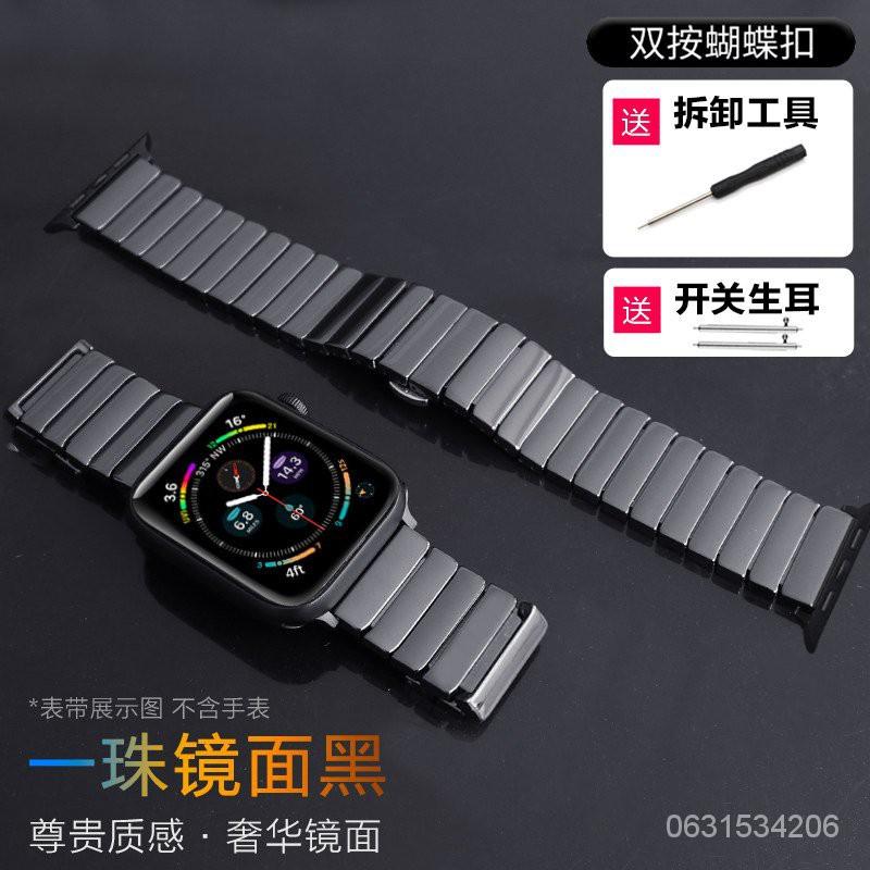 🔥ร้าน X.D🔥 สายคล้องขัดเซรามิกแอปเปิ้ลapplewatchนาฬิกาiwatchโซ่สแตนเลสโลหะSE/6/5/4/3/2รุ่นseriesสาย44/40mmผู้ชายและผู้หญิ