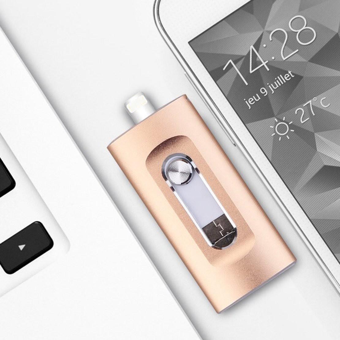 แฟลชไดรฟ์ Usb 16 Gb 32 Gb 64gb 128 Gb สําหรับ Iphone X / 8 / 7 / 6 Plus