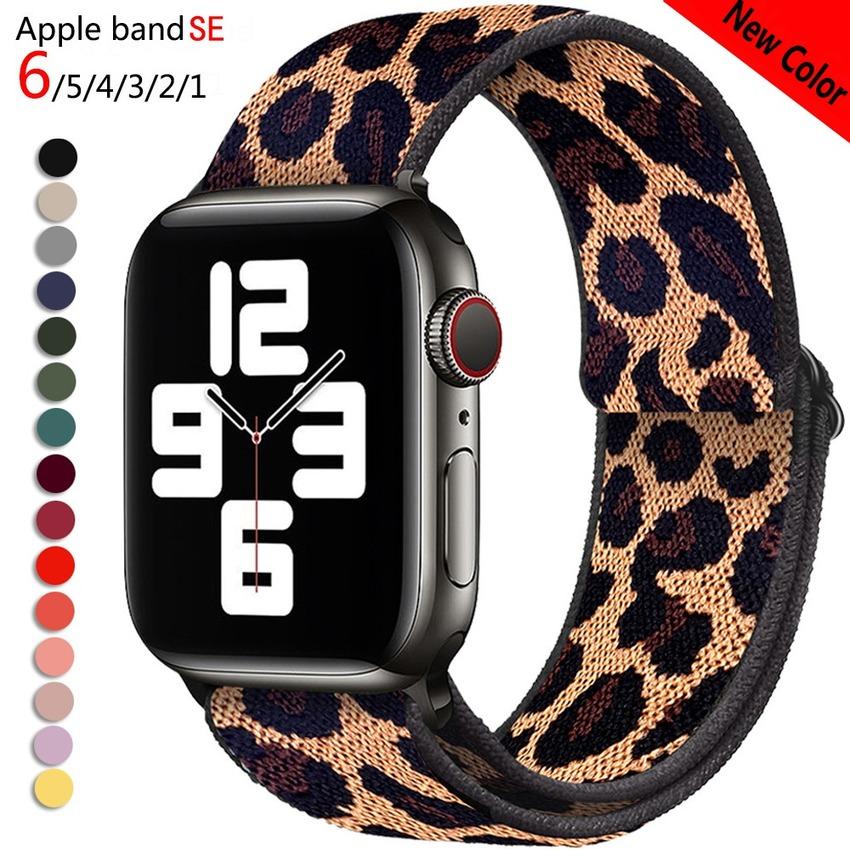 สายนาฬิกาข้อมือไนล่อนสําหรับ Apple Watch Band 38 มม . 40 มม . 42 มม . 44 มม . Iwatch Series 6 5 4 3 2 1
