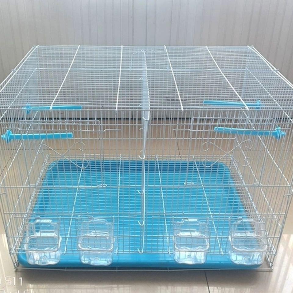 Bird Cages กรงเพาะพันธุ์w600กรงนกฝูงอัพเกรดอย่างเต็มที่ขายส่งหนึ่งตัวแปรสองกับพาร์ทิชันพาร์ติชันนอกแขวนน้ำกล่องอาหารกรง
