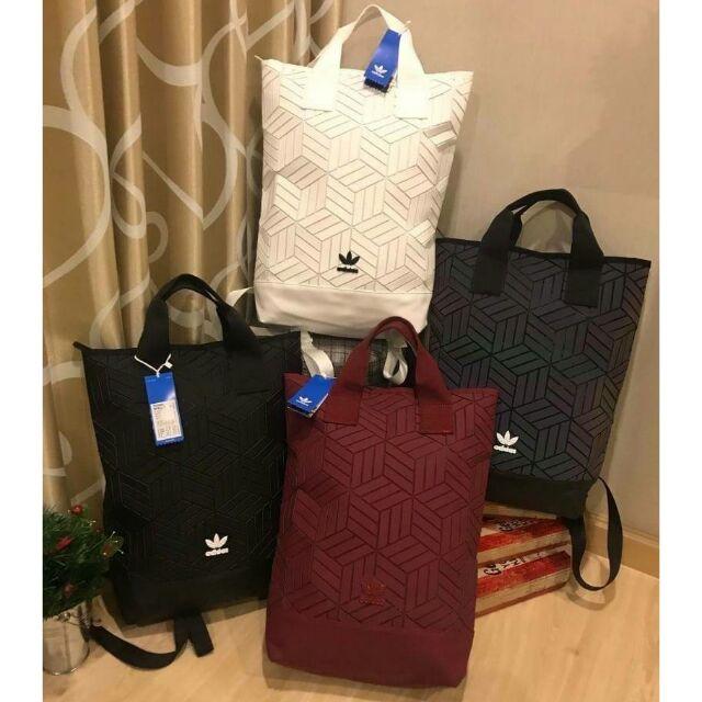 Adidas Originals geometric 3D roll top backpack
