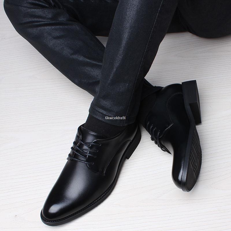 ส่งจากกรุงเทพ❆♣♘👞รองเท้าหนัง👞รองเท้าหนังผู้ชาย คัชชูหนัง รองเท้าหนังสำหรับผู้ชายรองเท้าแฟชั่นเยาวชน  รองเท้าผูกเชือก