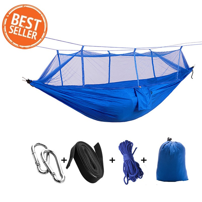 Camp Sleeping Gear Ultralight 1-2 Person Camping Hammock With Mosquito Net Outdoor Hanging Bed Strength Swing Sleeping Bag Flyknit Hamaca Camping & Hiking