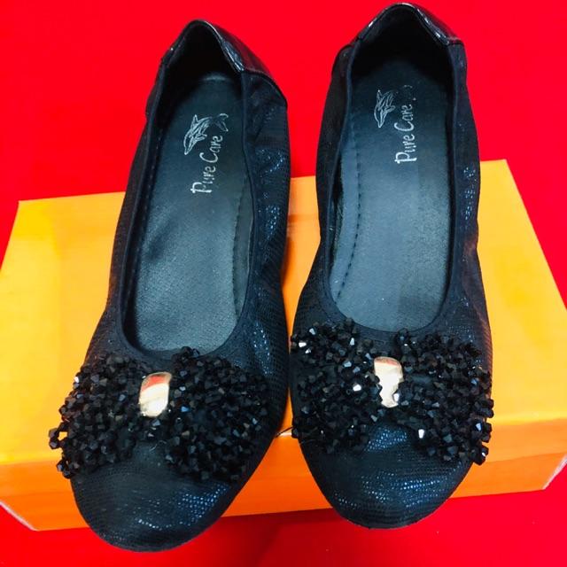 รองเท้าคัชชู สีดำ เบอร์37 พื้นนิ่มใส่สบาย🔥