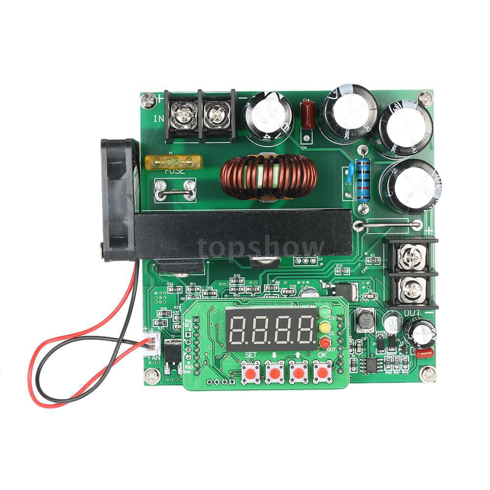 DC-DC 900W Digital Step-up Boost Converter Power Supply Module 8-60V To 10-120V