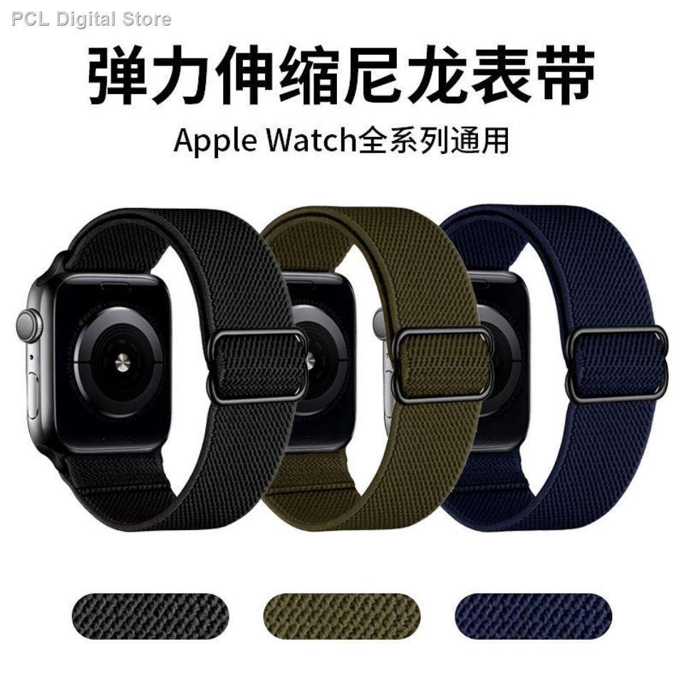 【อุปกรณ์เสริมของ applewatch】✺☋สายรัด iwatch ที่ใช้งานได้ Apple watch สายยางยืดไนลอน 6 เส้น Applewatch5 สายยางยืดกีฬา