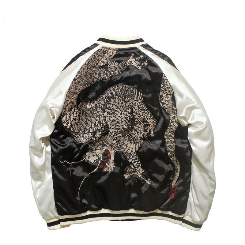 SUKAJAN พรีเมียมเกรด Japanese Souvenir Jacket  แจ็คเกตซูกาจันลาย dragon
