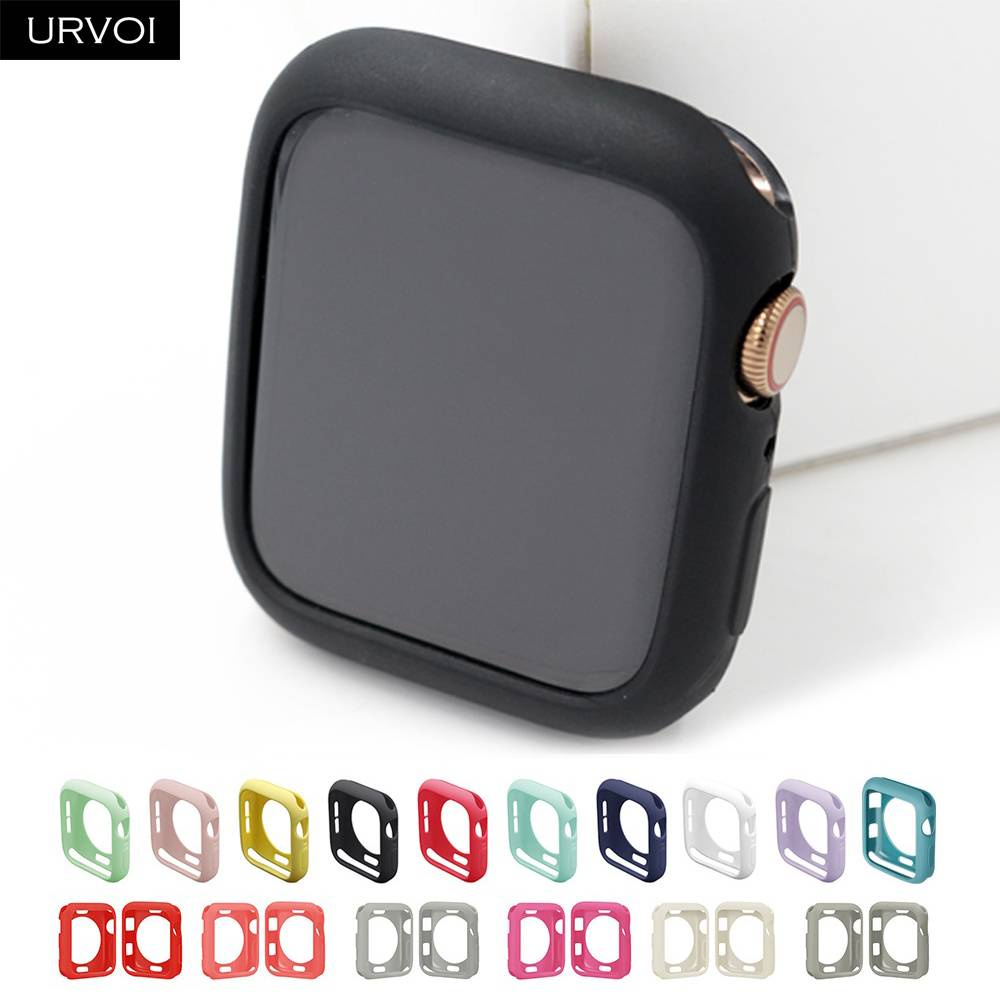 Bumper for apple watch series 5 4 3 2 case for iwatch candy color TPU cover slim fit protector Ultra-thin band 40mm 44mm