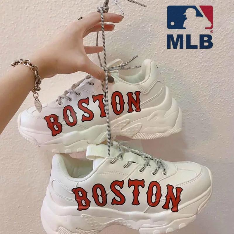 🎉🎉🎉ถูกที่สุด!!พร้อมส่ง New MLB BOSTON  รองเท้ากีฬารองเท้าอเนกประสงค์  สูง 6CM