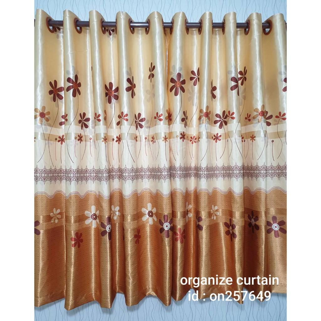 ผ้าม่านหน้าต่าง ลายดอกไม้ ผ้าหนาพิมพ์หน้าเดียว ผ้าม่านประตู ผ้าม่านสำเร็จรูป ผ้าม่านเจาะตาไก่ ผ้าม่า