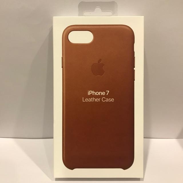 Apple เคสหนังแท้ iphone 7, 8, SE(2020) ใช้ร่วมกันได้ สีน้ำตาล[มือ 1 ยังไม่แกะพลาสติกกล่อง]