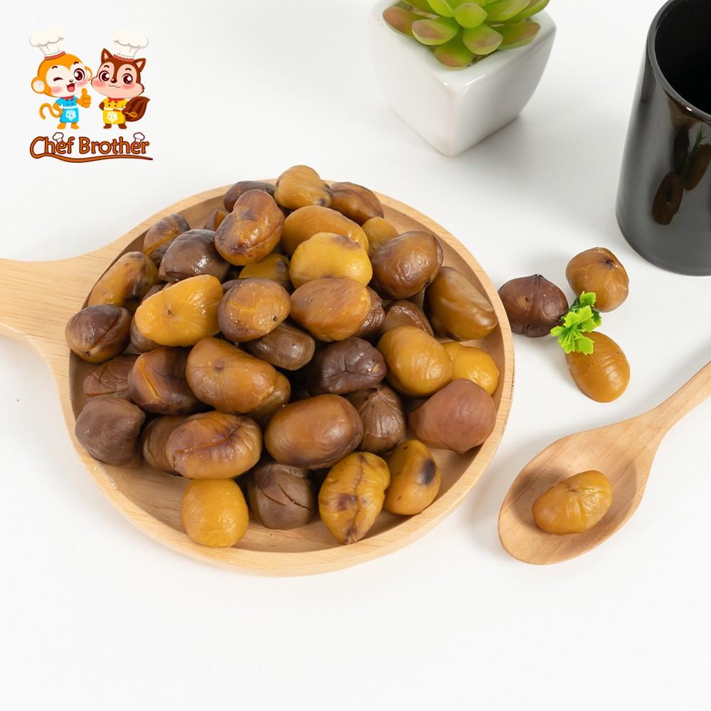 CHEFBROTHER เกาลัดแกะเปลือก เกาลัด เกาลัดอบ ( Chestnut ) ถั่วสุขภาพ อร่อยทุกที เกาลัด 80 กรัม