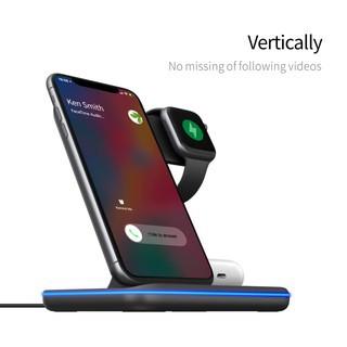 wireless charger 3in1 แท่นชาร์จไร้สายสำหรับโทรศัพท์ apple watch และ airpods