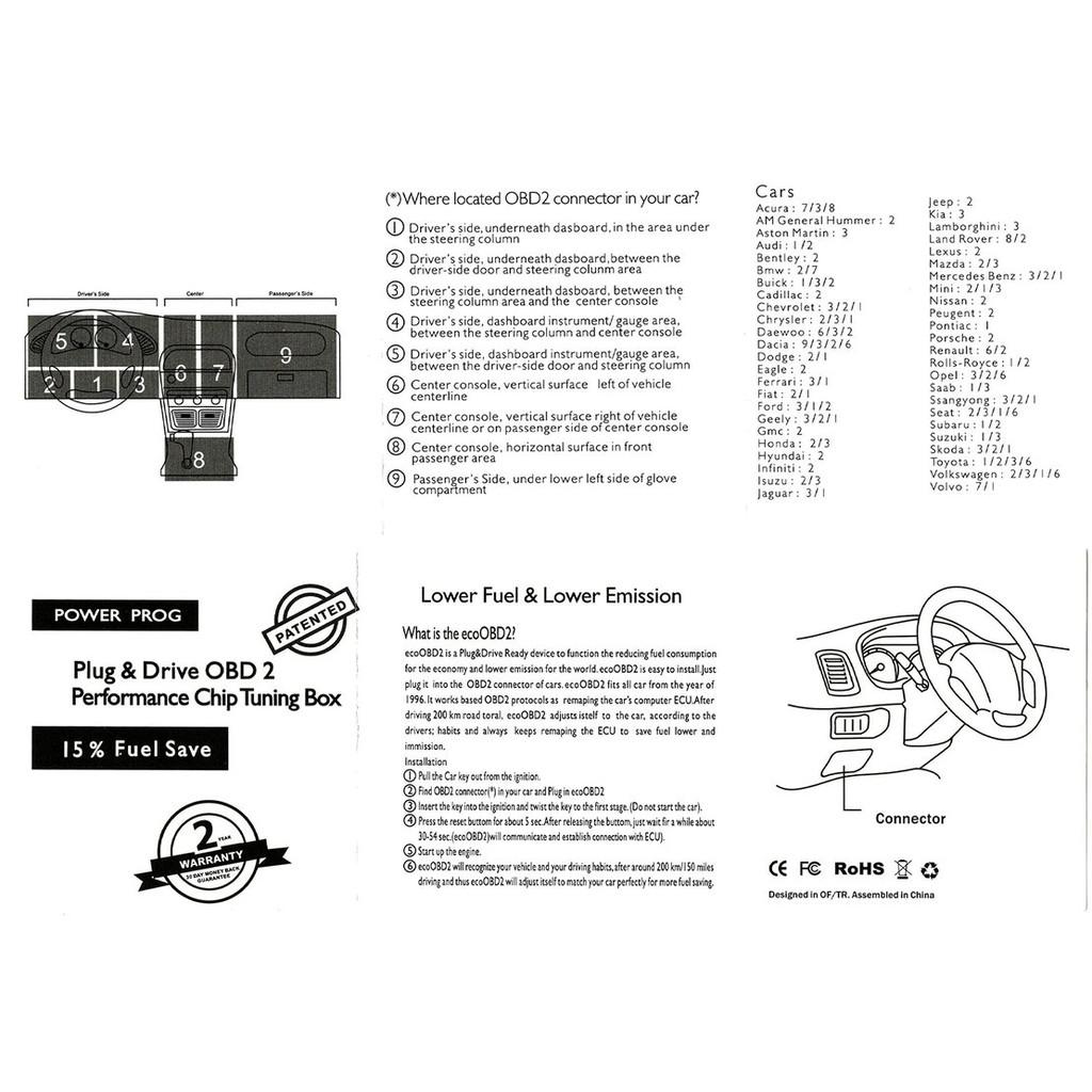 👍SUPER PETROL ENGINE TUNING ECU REMAP PERFORMANCE BHP POWER PCB OBD2 CHIP  BOX