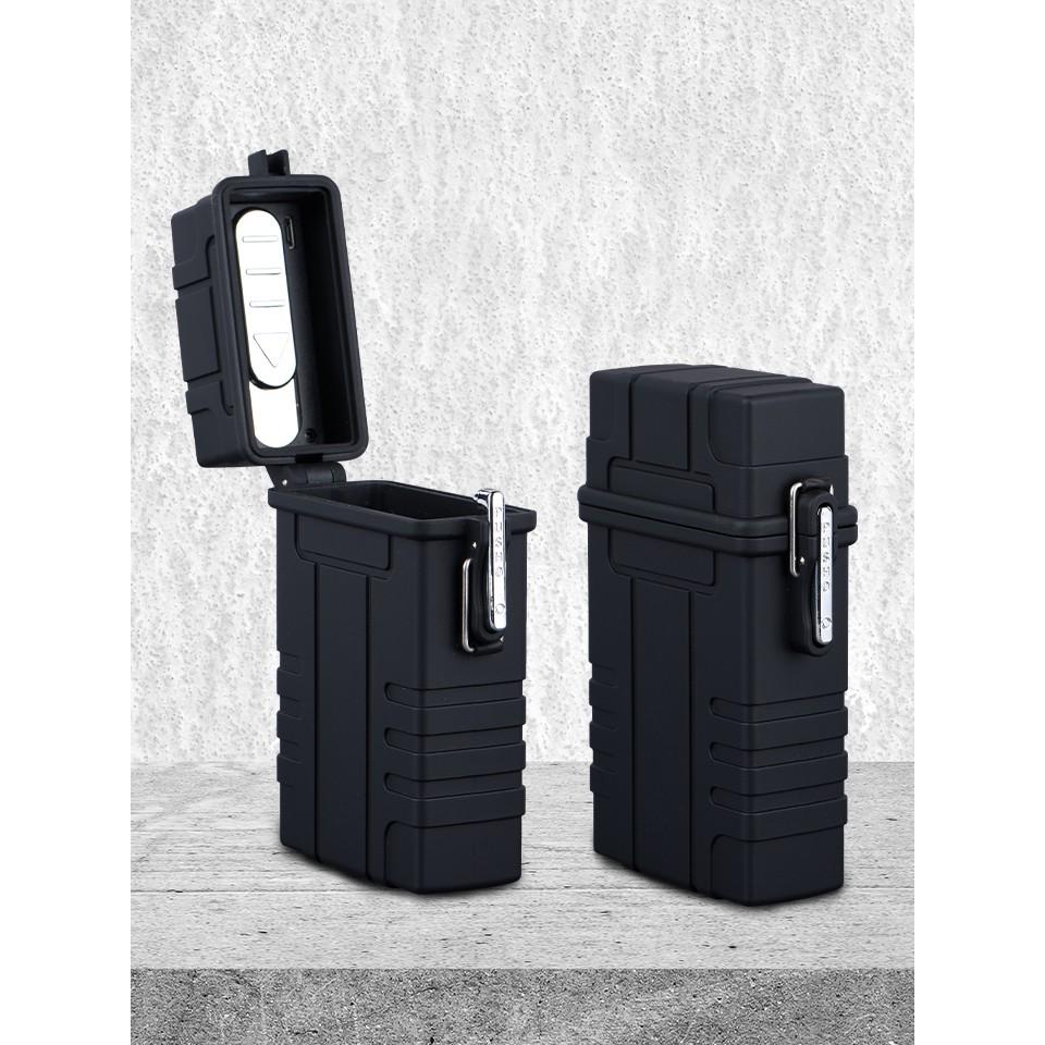 กล่องเก็บบุหรี่พร้อมที่จุดไฟแบบไฟฟ้า Waterproof USB Cigarette Holder and Lighter