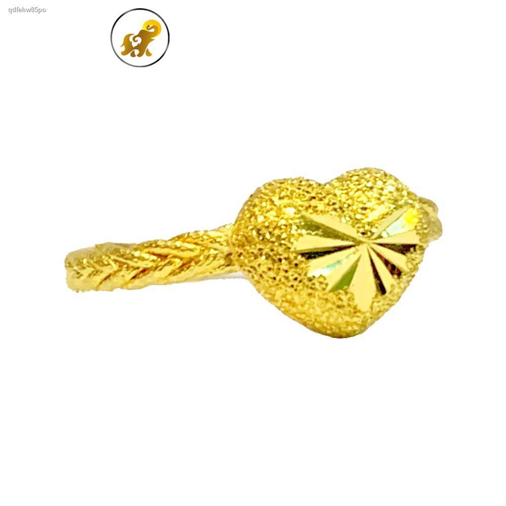 ราคาต่ำสุด●PGOLD แหวนทองครึ่งสลึง เปียหัวใจ หนัก 1.9 กรัม ทองคำแท้ 96.5% มีใบรับประกัน