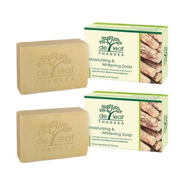 สบู่ป้องกันสิว De leaf Tanaka Moisturizing & Whitening Soap