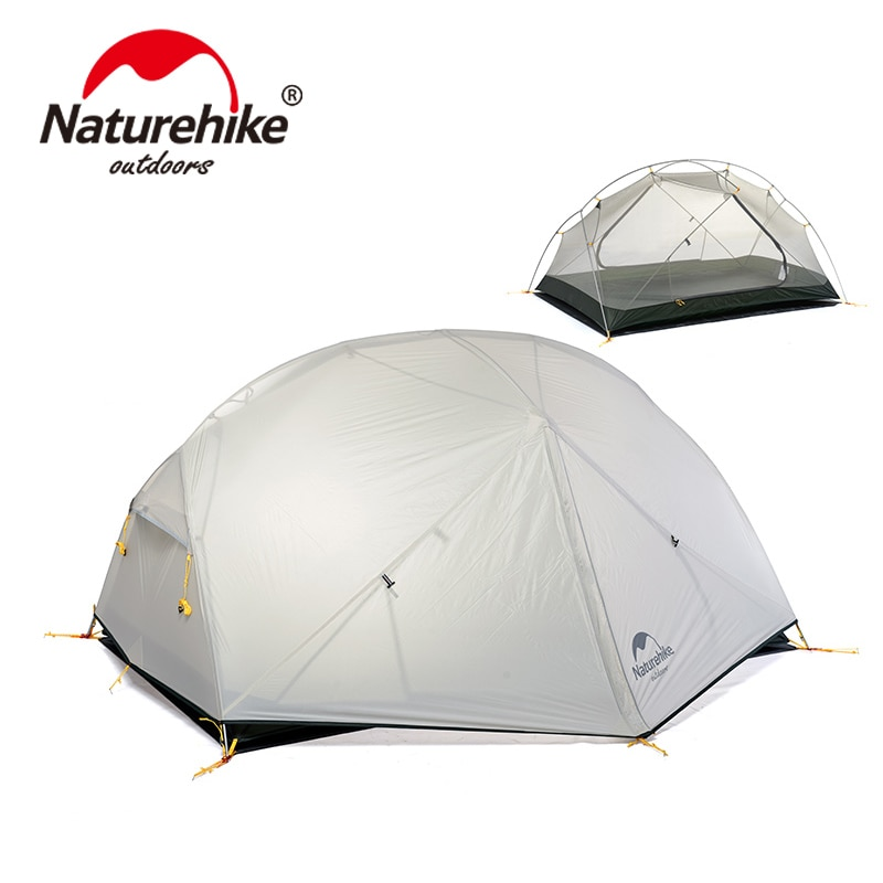 Naturehike Mongar 2 Camping Tent 2 Person 1.8kg 20D Nylon Fabric Double Layer Tent Camping 3000mm Waterproof  Travel Equ