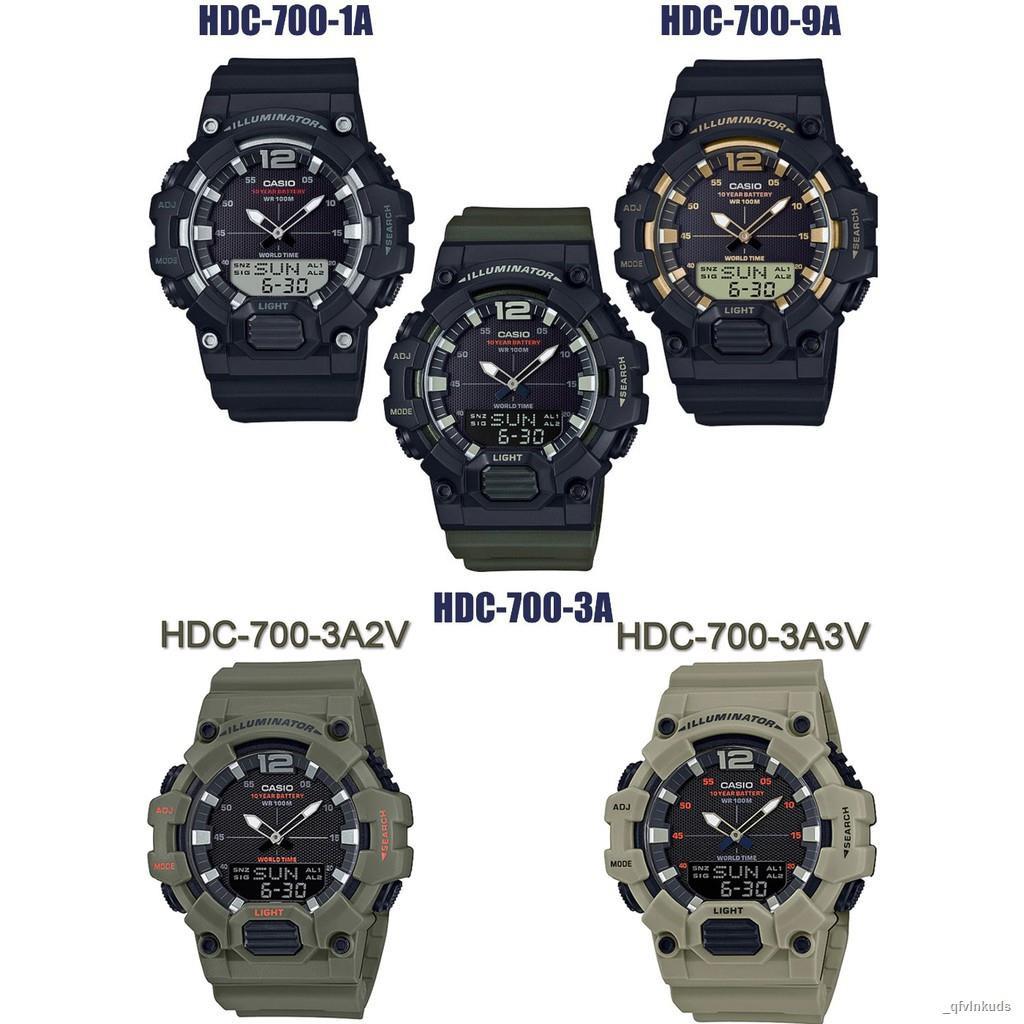 【สินค้าเฉพาะจุด】☬▨☒CASIOรุ่น HDC-700 Series HDC-700-1A,HDC-700-9A,HDC-700-3A,HDC-700-3A2,HDV-700-3A2 รับประกัน1ปี ของแท้