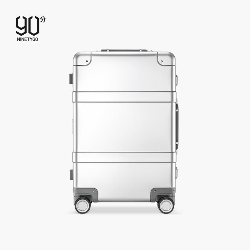 ♕▣□กระเป๋าเดินทางโลหะ 90 จุด กระเป๋าเดินทางล้อลากโลหะผสมอลูมิเนียมแมกนีเซียมขนาด 20 นิ้ว กระเป๋าเดินทางขึ้นเครื่องธุรกิจ