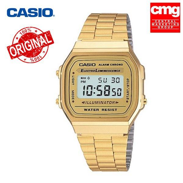 นาฬิกา Casio A-168WG (ประกัน CMG ศูนย์เซ็นทรัล1ปี) นาฬิกาข้อมือ สายสแตนเลส นาฬิกา casio ผู้หญิงนาฬิกา casio ชาย