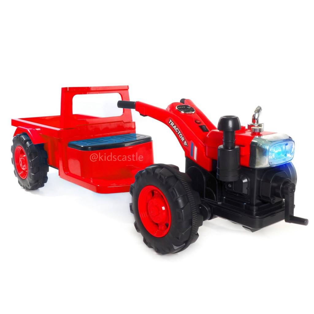รถแบตเตอรี่ รถแทรกเตอร์ รถไถนา รุ่นใหม่สำหรับเด็ก รถแบตเตอรี่ รถกระแทะ เด็กเล่น