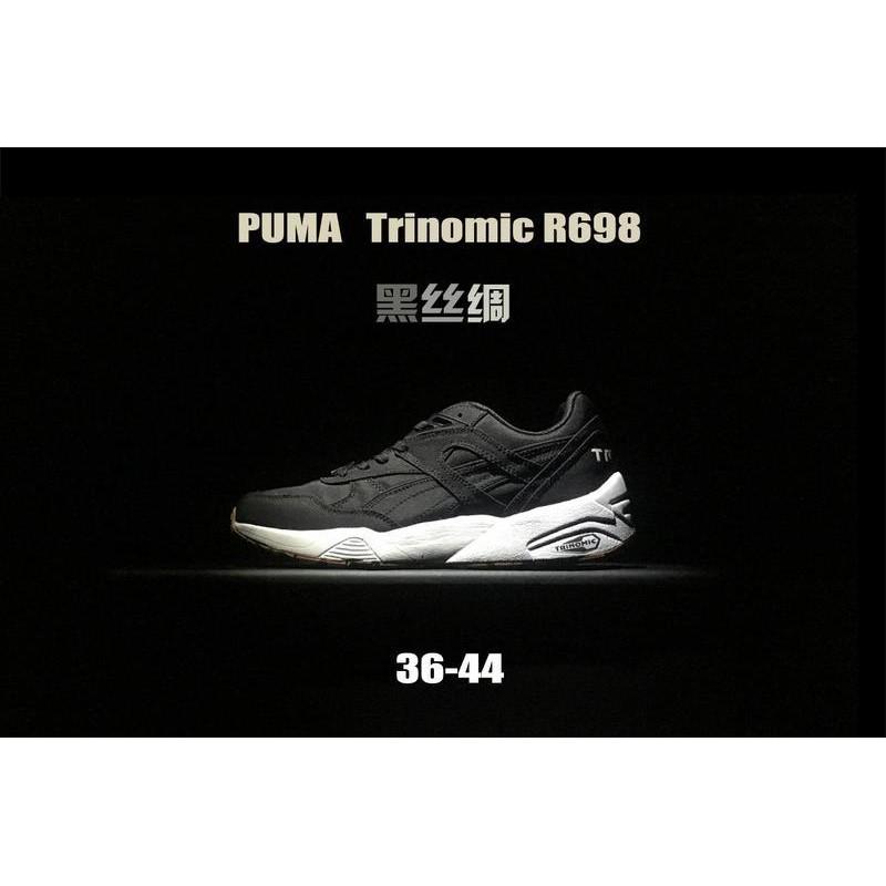 uk availability da4eb 00c34 ... 36-44 สายพานทับทิม PUMA Trinomic R698 รองเท้าวิ่งไหมสีดำ ...