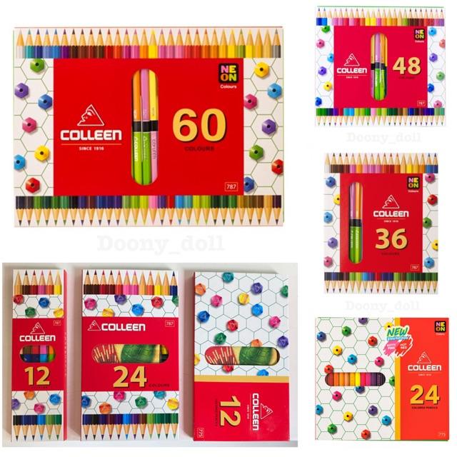 ?ถูกที่สุด!?สีไม้คอลลีน (colleen) สีไม้ สีไม้colleen ดินสอสี ดินสอสีไม้ 12/24/36/48/60สี ของแท้ 100%.